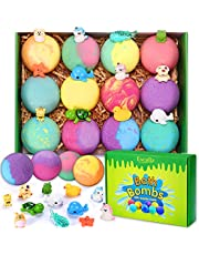 Bath Bombs for Kids with Toys Inside for Girls Boys - 12 Surprise Gift Set, Bubble Bath Fizzies Vegan Essential Oil Spa Fizz Balls Christmas Gift Kit