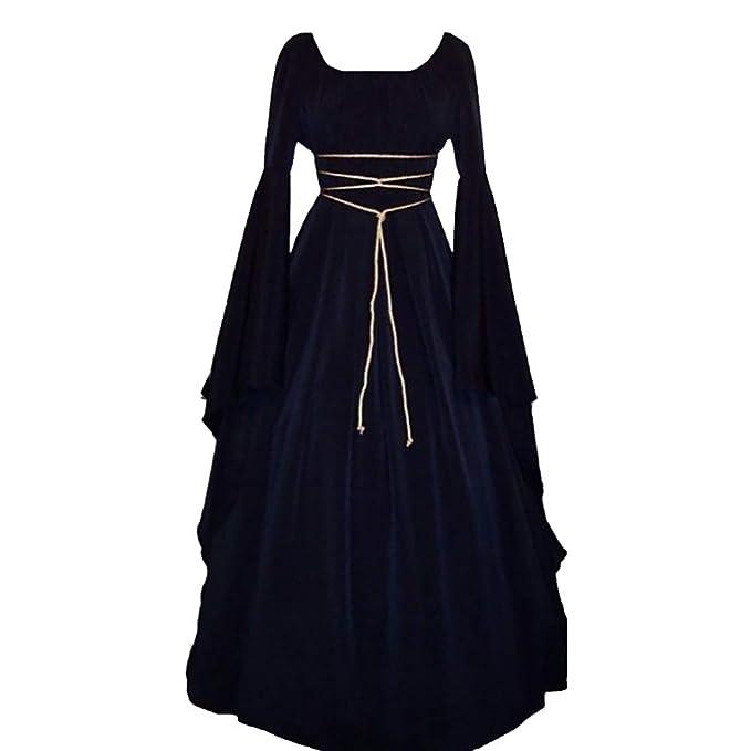Yukeyy Vestido Vintage De Damas Medievales Disfraz Renacentista Disfraz De Cosplay De Halloween: Amazon.es: Ropa y accesorios