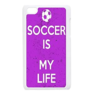 High quality Soccer,playing soccerseries protective case cover FOR IPod Touch 4 A-SOCCER-B4161