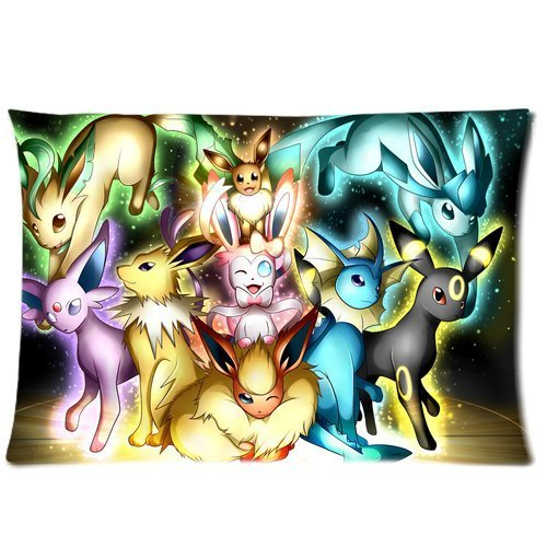 andersonfgytyh-Pokemon-Pocket-Monster-Cute-Eevee-Personalized-Home-Decoration-Pillowcase-Pillow-Sham-Queen-Size-Pillow-Cushion-Case-Cover-Two-Sides-Printed-20x26-Inches