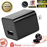 USB Wall Charger Hidden Spy Camera – Concealed Indoor Camera 32GB Memory – Motion Activated Video Surveillance – No WiFi Needed - Home Security Nanny Camera 1080p No Audio Duddy-Cam