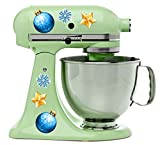 Christmas Ornament Decal Set for Kitchen Aid Mixer