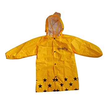 Cute Baby Rain Jacket Infant Raincoat Toddler Rain Wear YELLOW ...