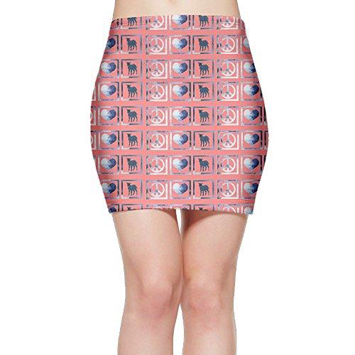 SKIRTS WWE Peace Love Goats Women's Slim Fit High Waisted Mini Short Skirt by SKIRTS WWE