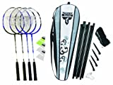 Talbot Torro Fighter Badminton 4 Player Set - Grey/Black/White, 27 Inch by Talbot Torro