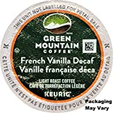 Green Mountain Coffee French Vanilla Decaf Keurig Single-Serve K-Cup Pods Light Roast Coffee 24 Count