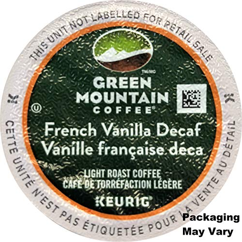 Green Mountain Coffee French Vanilla Decaf Keurig Single-Serve K-Cup Pods, Light Roast Coffee, 24 ()