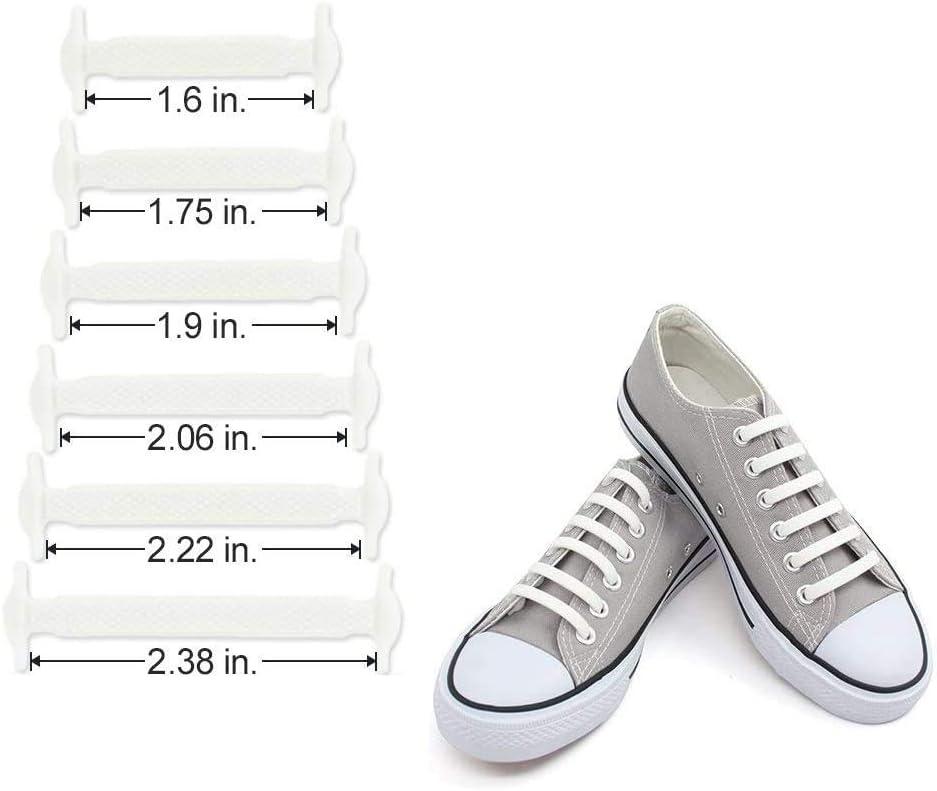 takestop® Lacci Laccio Elastici Impermeabili in Silicone Stringhe Piatti Piatto per Scarpe Stringhe Colorate Stivali Scarpe Resistenti (Bianco)