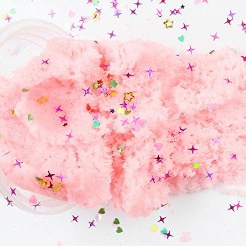 60ml Fluffy Slime Clay Toy - DIY Cloud Slime Squishy Putty Scented Stress Art Craft for Home/School - Best Gift for Adults and Children (8+) (Pink) by FreshZone (Image #2)