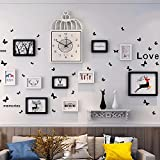WUXK The Nordic watch photo wall decoration living room wall photo frame wall creative personality combination wall photo frame photo Wall 3