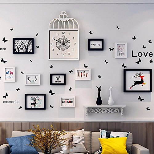 WUXK The Nordic watch photo wall decoration living room wall photo frame wall creative personality combination wall photo frame photo Wall 3 by WUXK