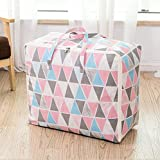 Zhiyuan Waterproof Clothes Blanket Comforter Storage Bag Household Home Organizer Bin Travel Luggage Bag, M, Triangle
