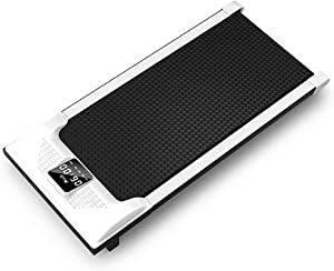 BU1 Treadmill, Electric Portable Foldable Flat Treadmill, Indoor Sports Home Slow Treadmill(White)