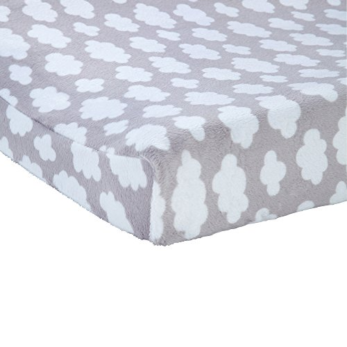 Carter's Changing Pad Cover, Grey Cloud Print, One Size