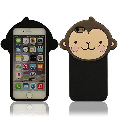 """Silicone Gel Protective Case in morbida per Apple iPhone 6S / 6 4.7"""" Tipo di animali Carino Scimmia Slim Sottile Stile"""