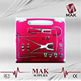 MAK Dental Rubber Dam Kit Ainsworth Brewer Winged Rubber Dam Clamps Forceps Frame CE