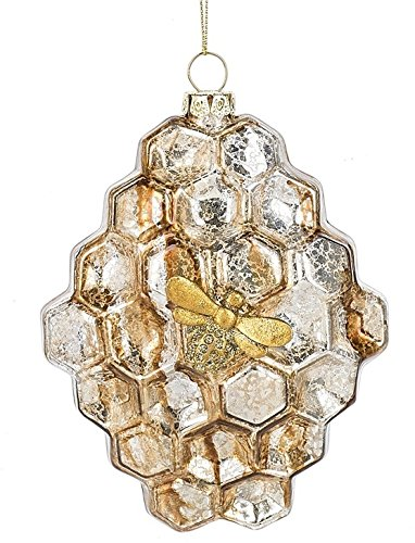 On Holiday Glass Honeycomb Beehive Christmas Tree Ornament, great bee ornaments for christmas