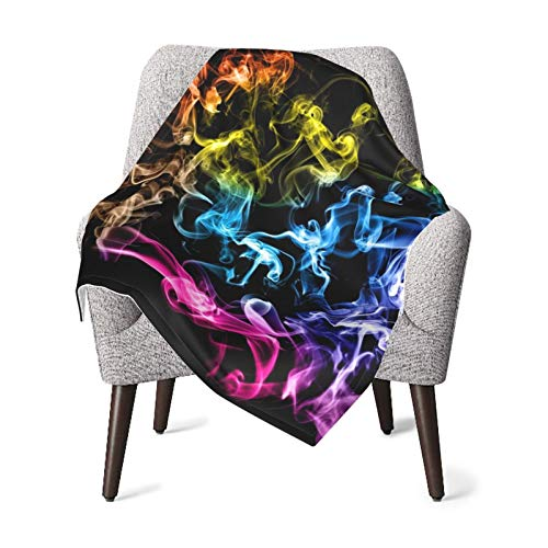 Colored Smoke Black Fleece Baby Blanket Plush Fuzzy Receiving Blankets Warm Cozy for Toddler Infant Newborn Boys and Girls 30x40 Inches