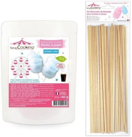 Preparación para algodón de azúcar azul 160 g + 25 palillos de ...