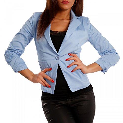Blau Blau Blau Camicia Made Made Made a Basic Giacca Maniche 4 3 abito Italy donna da qOxwafPUq
