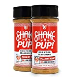 Cheap Shake it Pup! Dog Food Seasoning – Natural, Human Grade Powder Topper, Flavor Enhancer, Broth, and Gravy for Dogs Kibble or Raw, 4.5oz Bottles (Pizza My Heart, 2-Pack)