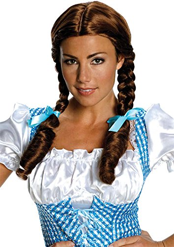 UHC Dorothy Wig Wizard Of Oz Pigtails Adult Halloween Costume Accessory -