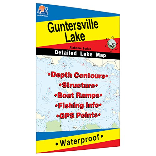 Lake Fishing Map (Guntersville Lake Fishing Map)