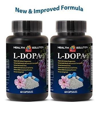 Steel libido for men - L-DOPA - MUCUNA PRURIENS EXTRACT 99% - Dopa pills - 2 Bottles 120 Capsules