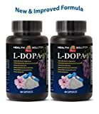 Libido enhancement for a boost in sex drive - L-DOPA - MUCUNA PRURIENS EXTRACT 99% - Dopa focus - 2 Bottles 120 Capsules
