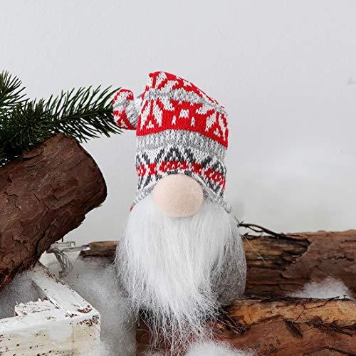 EDLDECCO Christmas Gnome Pack of 4 Plush Yule Santa Nisse Figurine Plush Swedish Nordic Tomte Scandinavian Elf X'Mas…