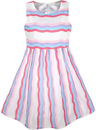 3ea603ec4 Sunny Fashion Girls Dress Sunflower Bubble Lily Flower Garden Print
