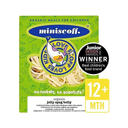 Miniscoff Organic Jolly Spag Bolly Frozen 270g - Pack of 2