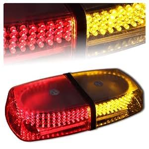 240 LED Magnetic Rooftop Emergency Hazard Warning Strobe Lights - Red & Amber