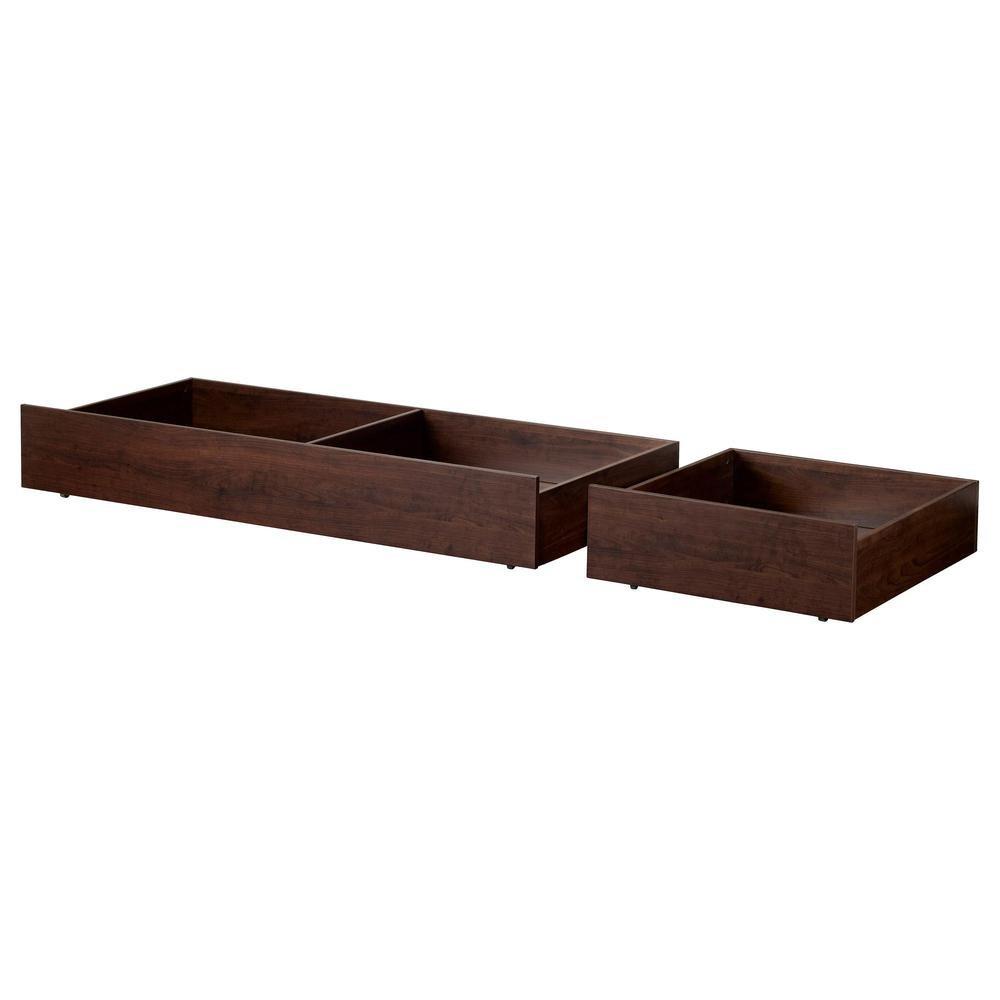 IKEA BRUSALI - caja de almacenamiento de cama, juego de 2, color marrón: Amazon.es: Hogar