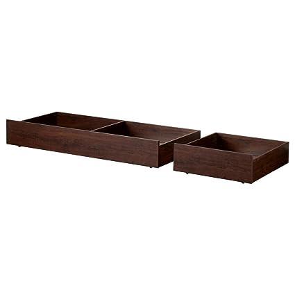 IKEA BRUSALI – caja de almacenamiento de cama, juego de 2, color marrón