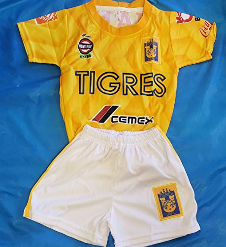 - New! UANL Tigres Generic Replica Short and Jersey Size 8 (7-8 Years)