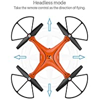 X10 2.4Ghz 6-Axis Gyro Altitude Hold RC Drone With Headless Mode, 360Degree, Wifi Camera FPV, Real-Time Transmission Quadcopter Xander Orange