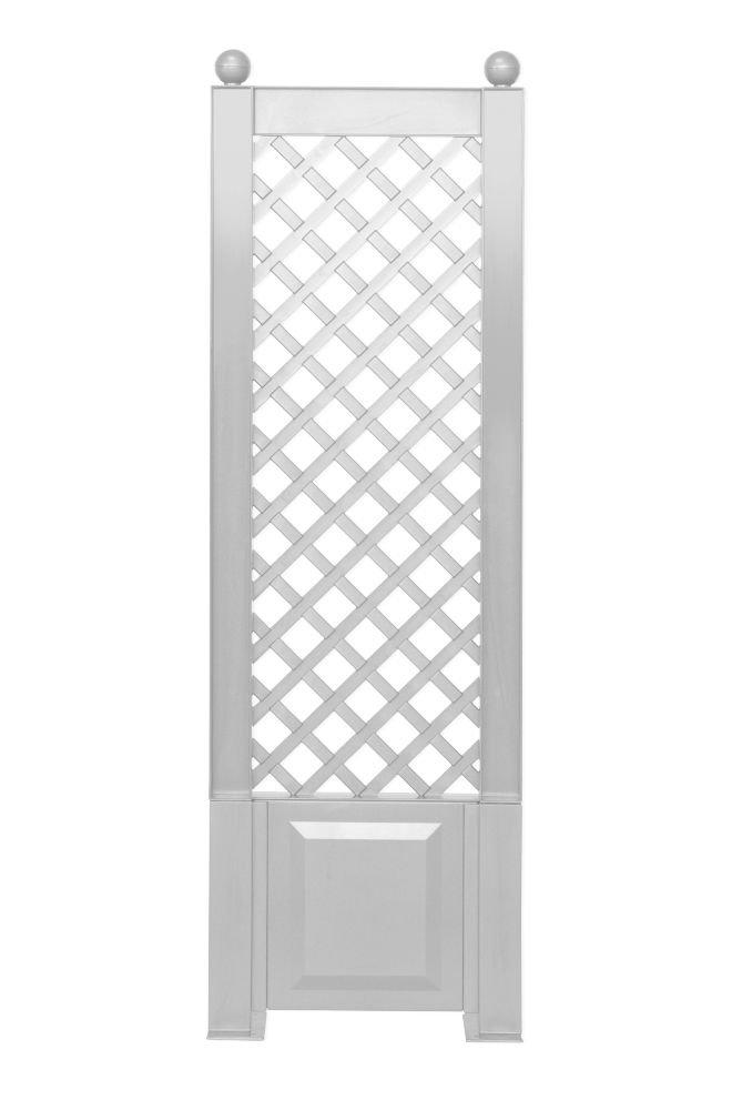 KHW 37801 Spalier 43 cm mit Erdspießen, weiß weiß