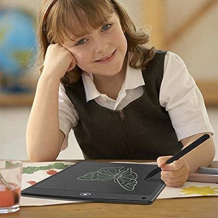 Grafiktabletts schreibtafel lcd Grafik Tablett 12 Inch papierlos umweltfreundlich f/ür Schreiben Rekord und Malen Schwarz 12Inch