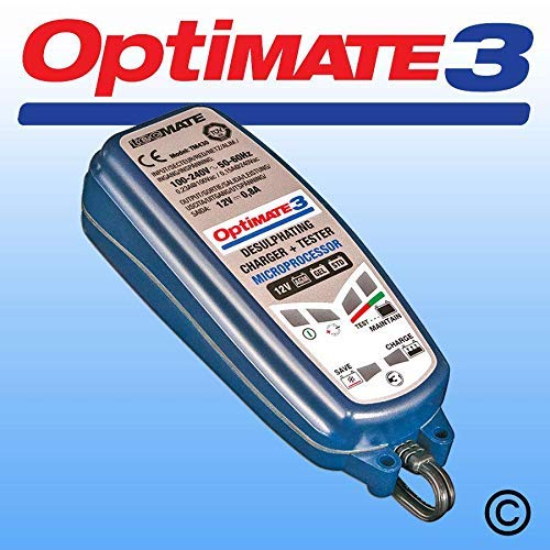 Smart Battery Charger Optimiser 12V 0.8Amp Charge Rate Optimate 3