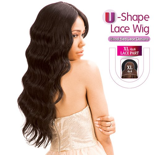 (New Born Free Human Hair Blend Lace Front Wig Magic Lace U-Shape Lace Wig MLUH94)