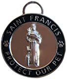 Luxepets Pet Collar Charm, Saint Francis of Assisi, Small, Black, My Pet Supplies
