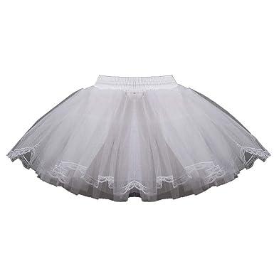 Niñas Mini Falda De Ballet Skirt Tul Multicapa Encaje con Encaje ...