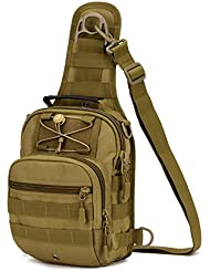 X-Freedom Military Tactical Sling Daypack Chest Pack Travel Crossbody Shoulder Bag For Hunting, Camping