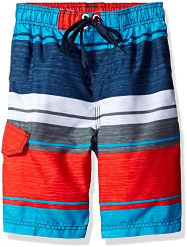 Kanu Surf Baby Toddler Boys' Impact Stripe Swim Trunk