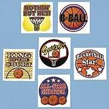 Fun Express Temporary Basketball Tattoos (6 Dozen)