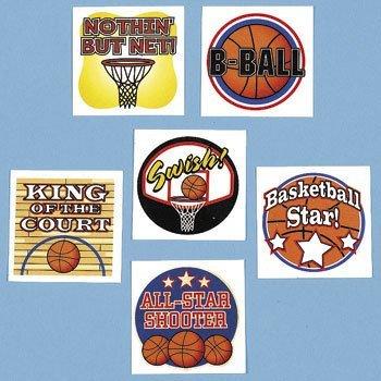 Fun Express Temporary Basketball Tattoos (6 (Sport Tattoos)
