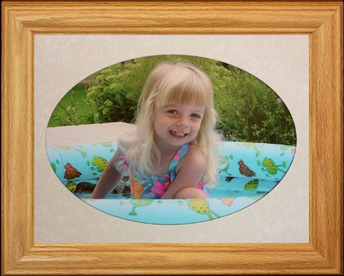 8x10 JUMBO OVAL ~ Landscape Picture/Photo LIGHT/MEDIUM Frame with CREAM (Medium Oval Frame)