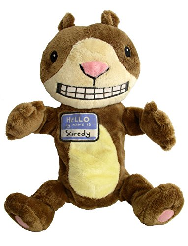 MerryMakers Scaredy Squirrel Plush Hand Puppet, 12-Inch Melanie Watt Merrymakers Distribution 1595 Toys