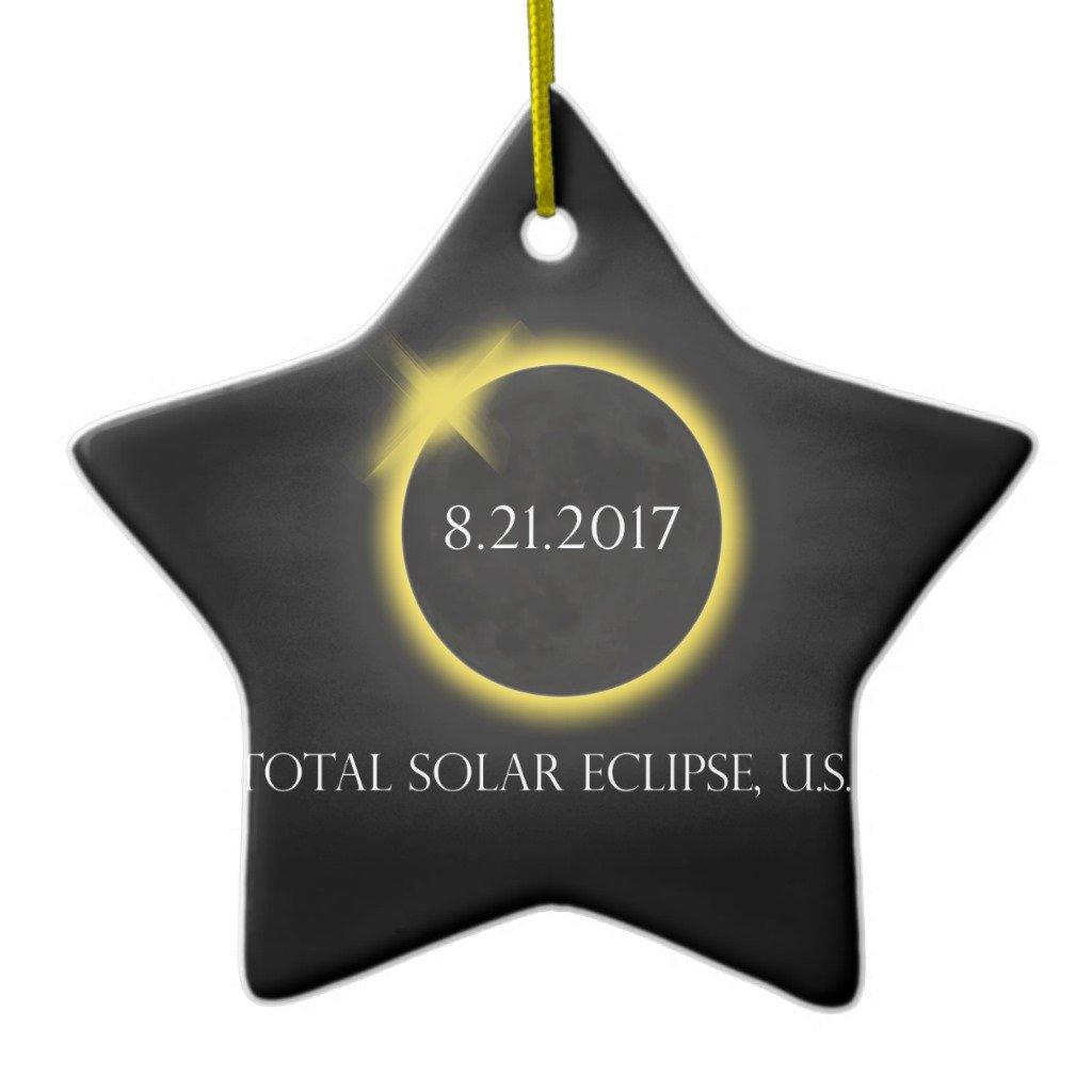 Zazzle Total Solar Eclipse August 21 2017usa Souvenir Ceramic Ornament Star